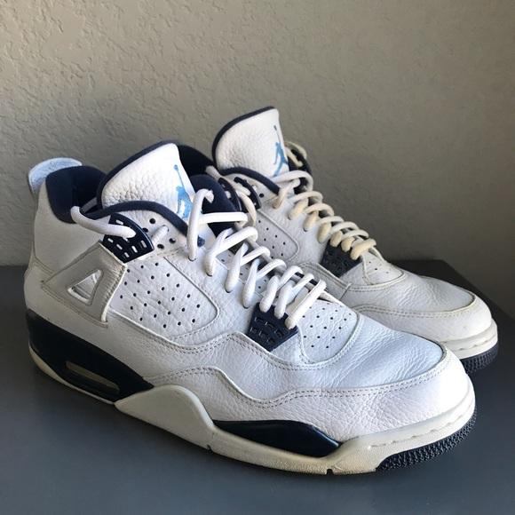 buy online 8bf7b daa82 Nike Air Jordan 4 LS Legend Blue White Sneakers